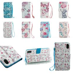 10pcs/lot Dimond Flip Wallet Stand PU Leather Case for iPhon
