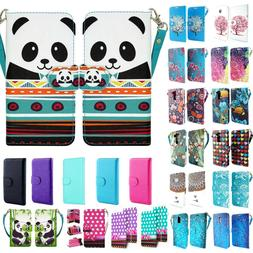 2X PU Leather Wallet Case Cover For Samsung Galaxy On5 SM-G5