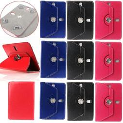 360° UNIVERSAL Wallet Folio Leather Case Protector Cover An