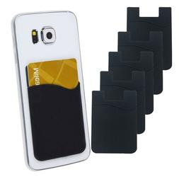 5x silicone credit card holder cell phone