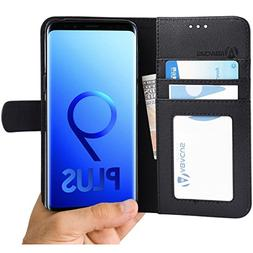 Abacus24-7 Samsung Galaxy S9 Plus Case Wallet with Flip Cove