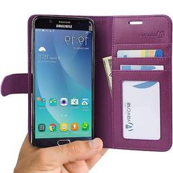 Abacus24-7 Wallet Case for Samsung Galaxy Note 5 - Purple
