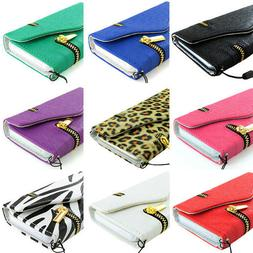 For Apple iPhone 6S/Plus/6 Zipper Wallet PU Leather Case+Tem