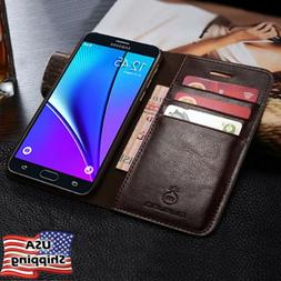 For Samsung Galaxy Note 9/S10 Plus SLIM Genuine Leather Wall
