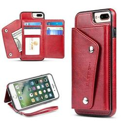 For iPhone 8 Plus,iPhone 7 Plus Wallet Case, WenBelle Leat