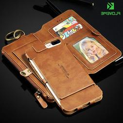 Genuine Leather Flip Wallet Case Cover for Samsung Galaxy iP