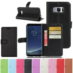 Luxury Leather Wallet Card Stand Case Shockproof Cover For S