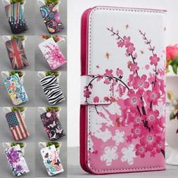 Magnetic Flip PU Leather Wallet Stand Case Cover For Samsung