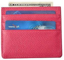 MaxGear Slim Credit Card Wallet For Women Leather Card Case
