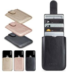 Adhesive Pocket Stick On Credit Wallet 5 Cards Holder Pouch