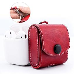 MoKo AirPods Case, Snap Closure Protective Cover Carrying Po