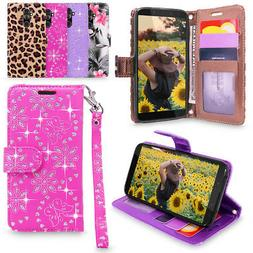 For Alcatel 7 / Revvl 2 Plus PU Leather Wallet Case Card Hol