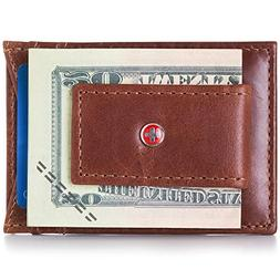 alpineswiss mens leather money clip