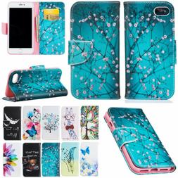 For Apple iPhone 6s 7 8 Plus Flip PU Leather Wallet Magnetic