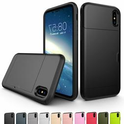 For Apple iPhone X 8 7 6s 6 Plus Phone Case Thin Wallet Cred