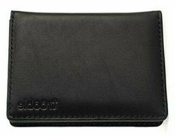 Black Calf Leather Wallet Men's Bifold Card Case US Women's