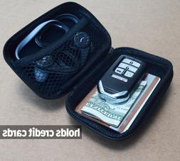 black carrying cases wallet size earbuds keys