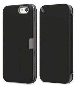 PUREGEAR BLACK FOLIO WALLET CASE COVER CARD SLOT STAND FOR i