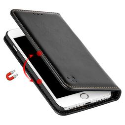 Black Removable Leather Wallet Case Cover For iPhone Xs Max
