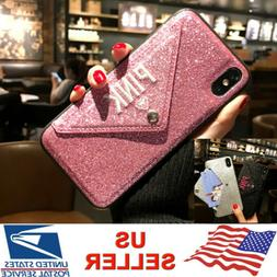 Bling Card Holder Envelope Wallet Case Cover For iPhone XS M