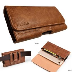 brown wallet case leather sleeve flap pouch