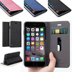 Business Leather Wallet Case Card Slot Stand Shockproof Cove