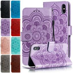 Case Cover For Iphone 8 Plus XS Max XR Magnetic Flip Leather