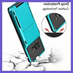 Vofolen Case For Galaxy S8 Plus Wallet 4 Slot Pocket Credit