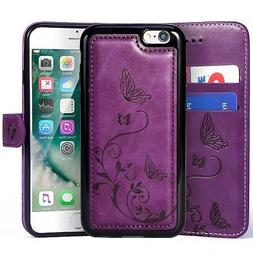 WaterFox Case for iPhone 8/iPhone 7, Wallet Leather Case wit