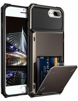 Vofolen Case for iPhone 8 Plus Case Wallet Card Holder ID Sl