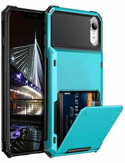 Vofolen Case for iPhone XR Case 10R Wallet ID Slot Credit Ca