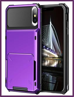 Vofolen Case for iPhone Xs Case iPhone X Wallet ID Slot Cred