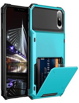 Vofolen Case for iPhone Xs Max Case Wallet ID Slot Credit Ca