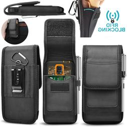Cell Phone Holster Belt Clip Loop Pouch Rfid Blocking Nylon