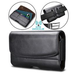Cell Phone Holster Belt Clip Loop Pouch Leather Wallet Case