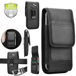 Cell Phone Holster Pouch Nylon Wallet Case with Belt Loop fo