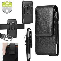 cell phone leather wallet case holster