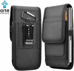 Cell Phone Vertical Nylon Wallet Case Holster Pouch with Bel