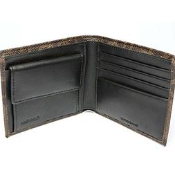 Calvin Klein Ck Men's Classic Leather Coin Case Id Wallet Br