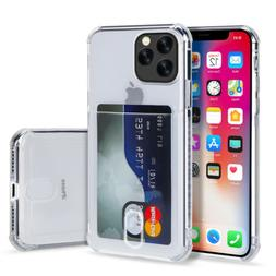 Clear Wallet Credit Card Pocket  Case Cover For iPhone 11 Pr
