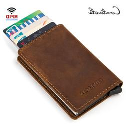 CONTACT'<font><b>S</b></font> Vintage Genuine Leather Alumin