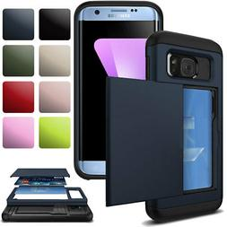 Credit Card Holder Shockproof Wallet Case Cover For Samsung