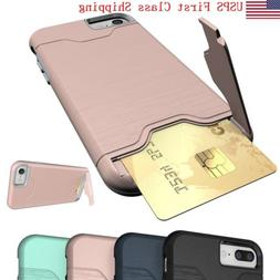 Credit Card Holder Wallet Case Shockproof Phone Cover For iP