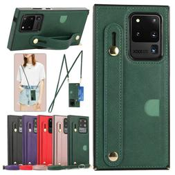 Crossbody Leather Case Cover Wallet For Samsung Galaxy Note