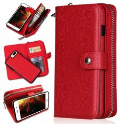 Detachable Magnetic Leather Wallet Purse Case for iPhone 11