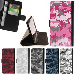 DIGITAL CAMO CAMOUFLAGE PATTERN WALLET CASE COVER FOR APPLE