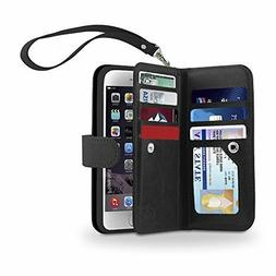 Gear Beast Dual Folio iPhone 6s Plus Wallet Case-ID & 6 Card