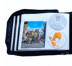 DVD CD Storage Case with Extra Wide Title Cover Pages for Bl