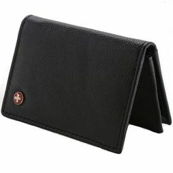 Alpine Swiss Expandable Business Card Case Genuine Leather F