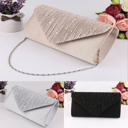 Fashion Lady Women Satin Clutch Wallet Long Card Holder Case